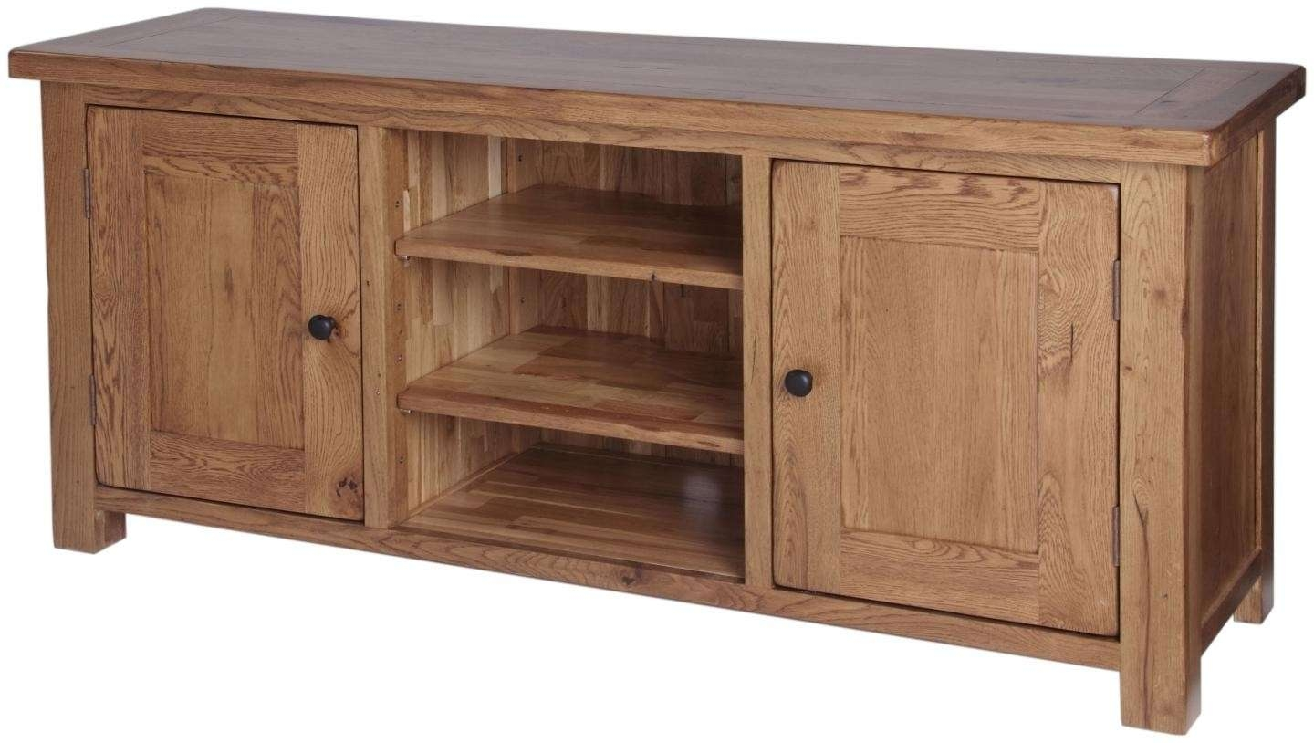 Ridgeway Oak Large Video Cabinet Throughout Oak Tv Cabinets With Doors (View 12 of 20)