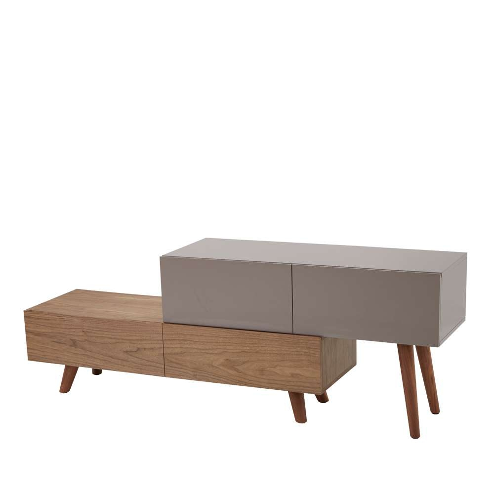 Riven Tv Unit Stone – Dwell Intended For Dwell Tv Stands (View 4 of 15)