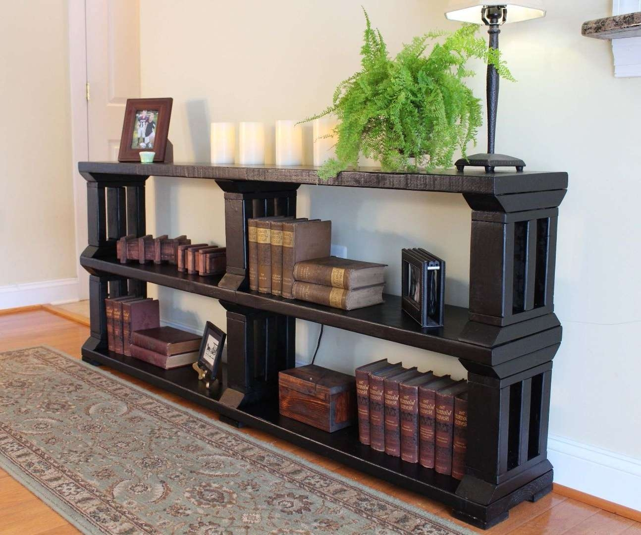 Rustic Book Shelf Or Tv Stand: 13 Steps (With Pictures) Throughout Tv Stands And Bookshelf (View 8 of 15)