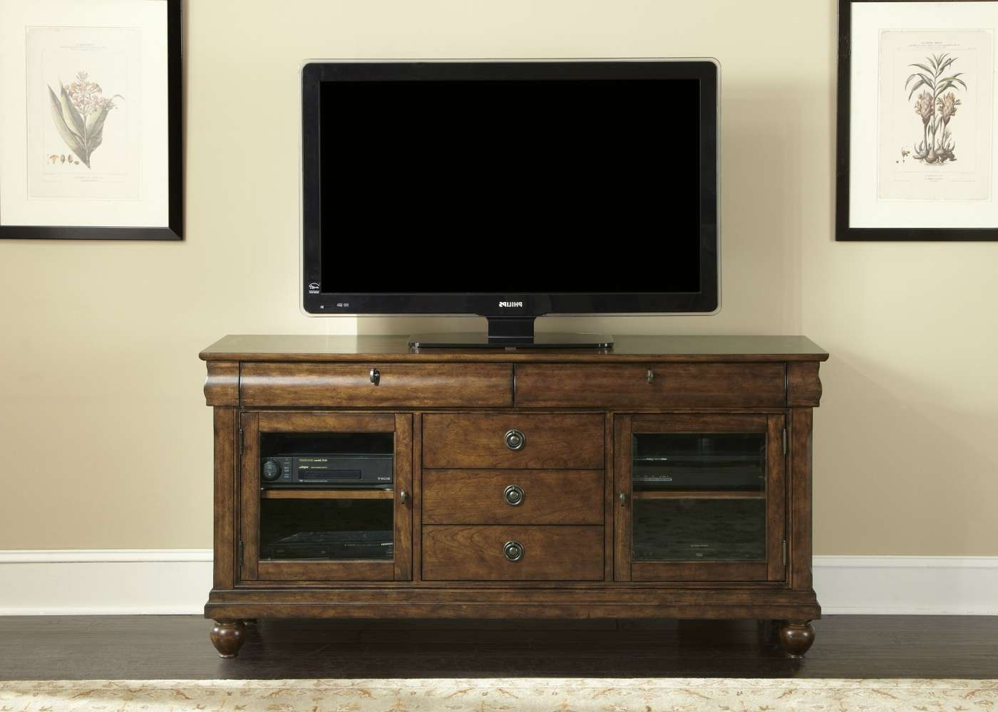 Rustic Cherry Tv Stand – Chambers Furniture Regarding Rustic Furniture Tv Stands (View 12 of 20)