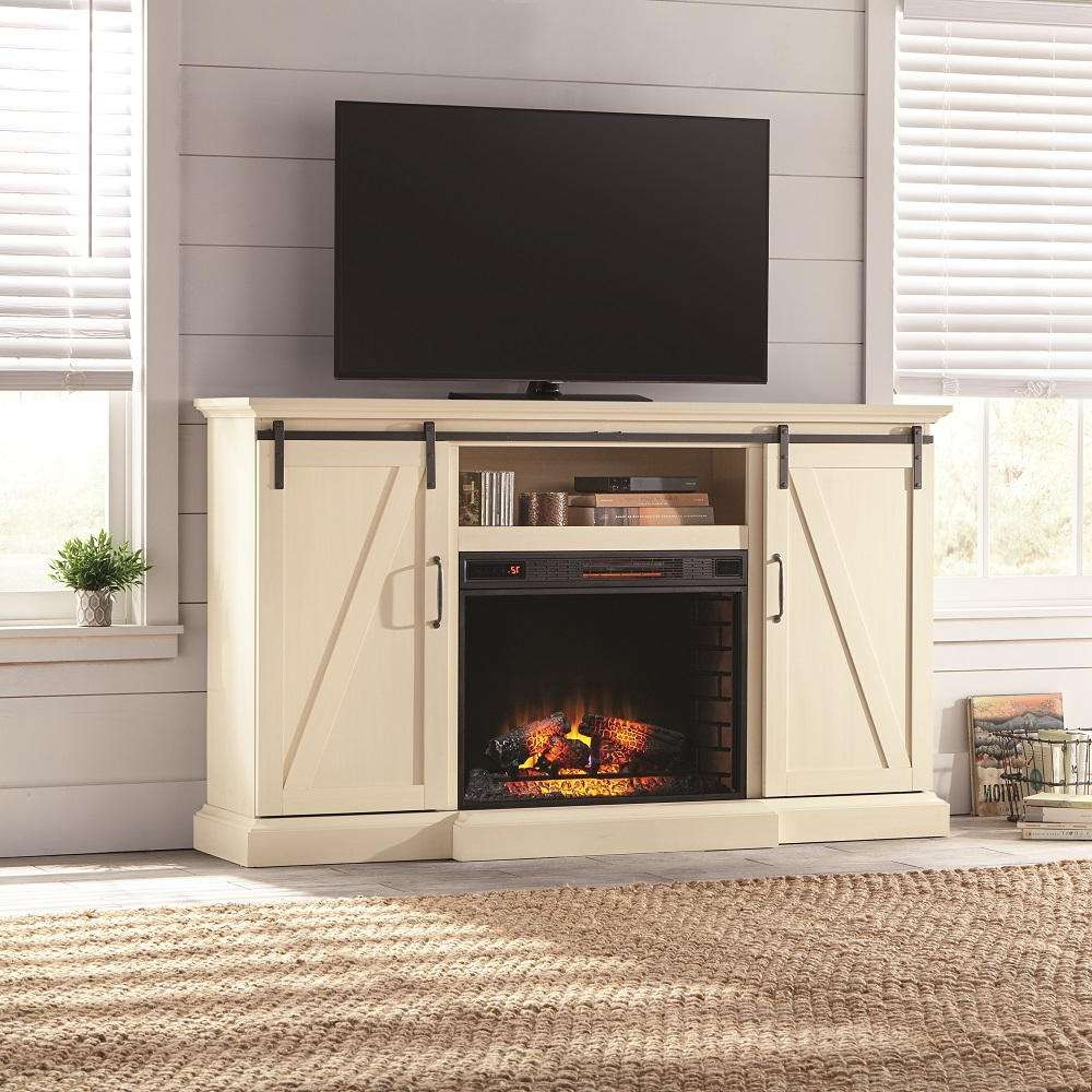 Rustic – Electric Fireplaces – Fireplaces – The Home Depot In Rustic White Tv Stands (View 13 of 20)