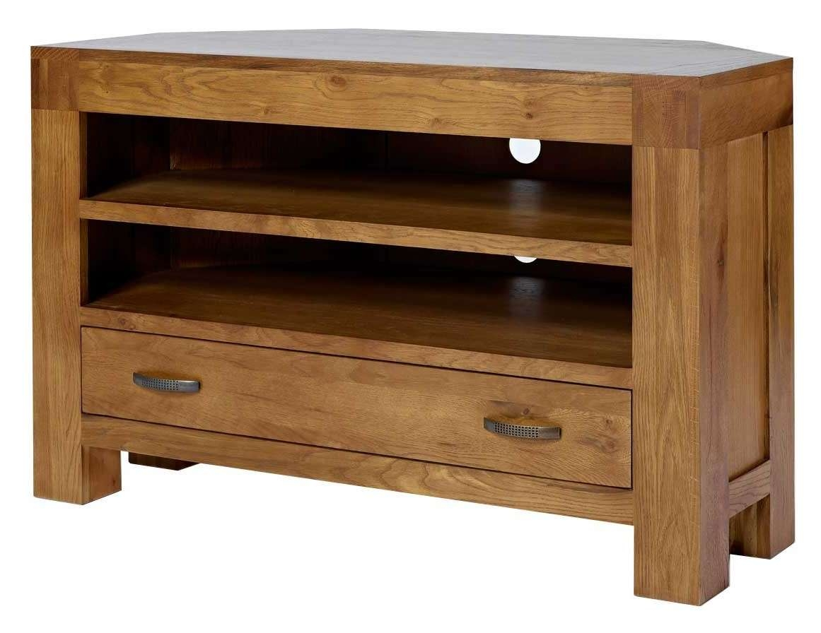 Rustic Grange Santana Rustic Oak Corner Tv Stand Intended For Oak Corner Tv Cabinets (View 16 of 20)