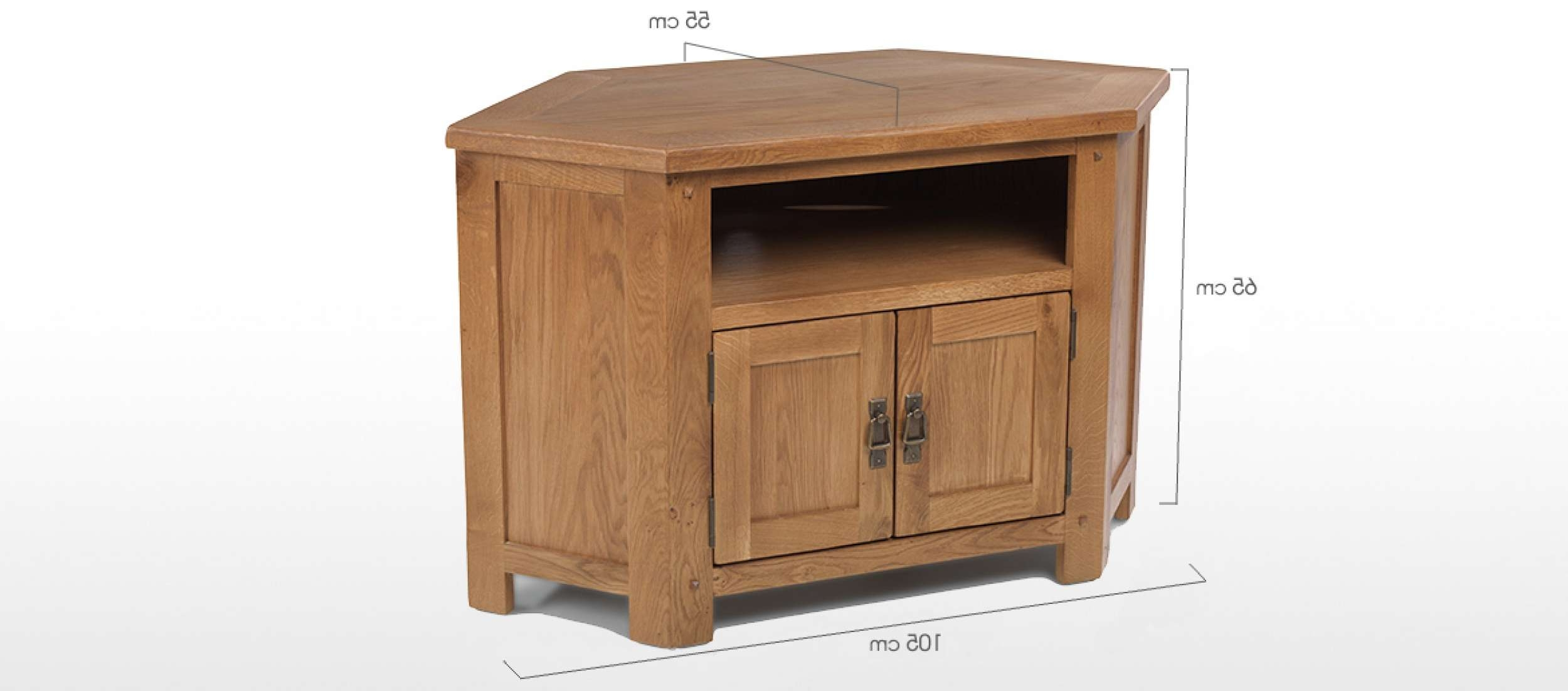 Rustic Oak Corner Tv Cabinet | Quercus Living Pertaining To Wood Corner Tv Cabinets (View 10 of 20)