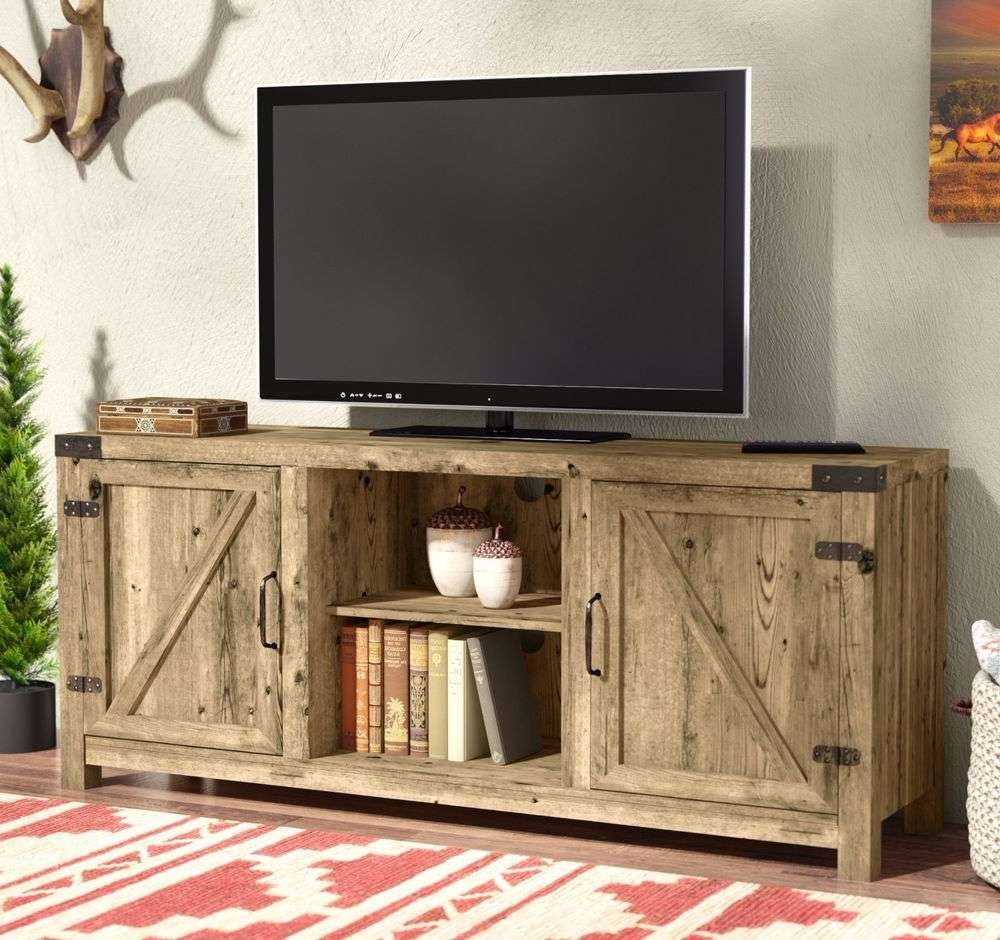 Rustic Tv Stand | Ebay Within Rustic Red Tv Stands (View 6 of 15)