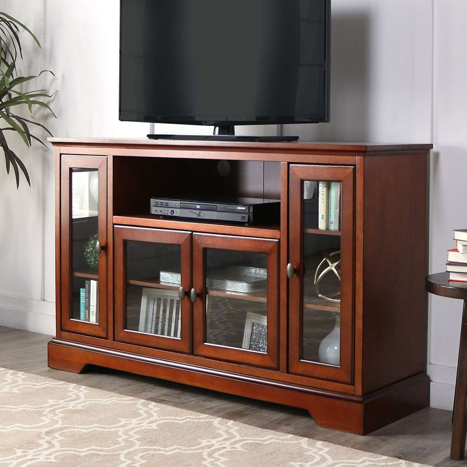 Rustic Tv Stand With Barn Doors : Ideal Rustic Furniture Tv Stand Inside Wooden Tv Stands With Doors (View 9 of 15)