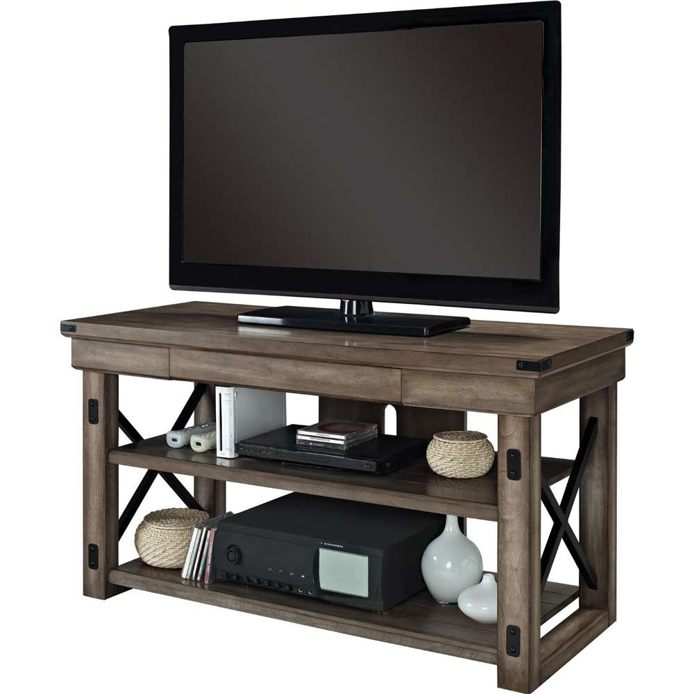 Rustic Wood Tv Stand In Tv Stands Pertaining To Wood Tv Stands (View 11 of 15)