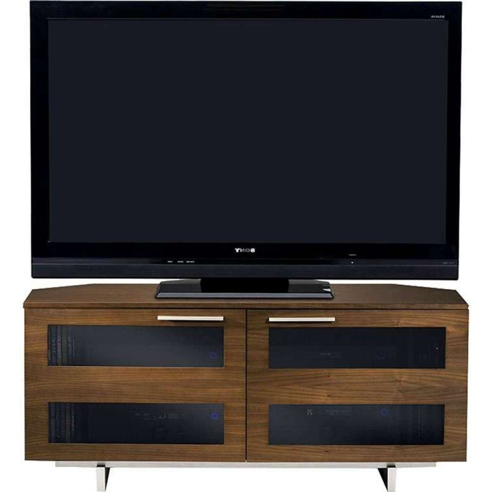 Rustic Wooden Media Flat Panel Tv Stand Table Unit Inside Walnut Corner Tv Stands (View 12 of 15)