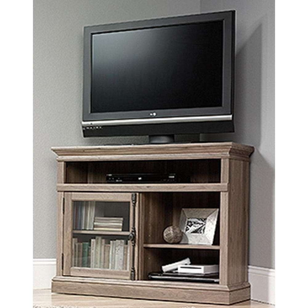 Sauder Barrister Lane Salt Oak Storage Entertainment Center 414729 Regarding Lane Tv Stands (View 10 of 15)