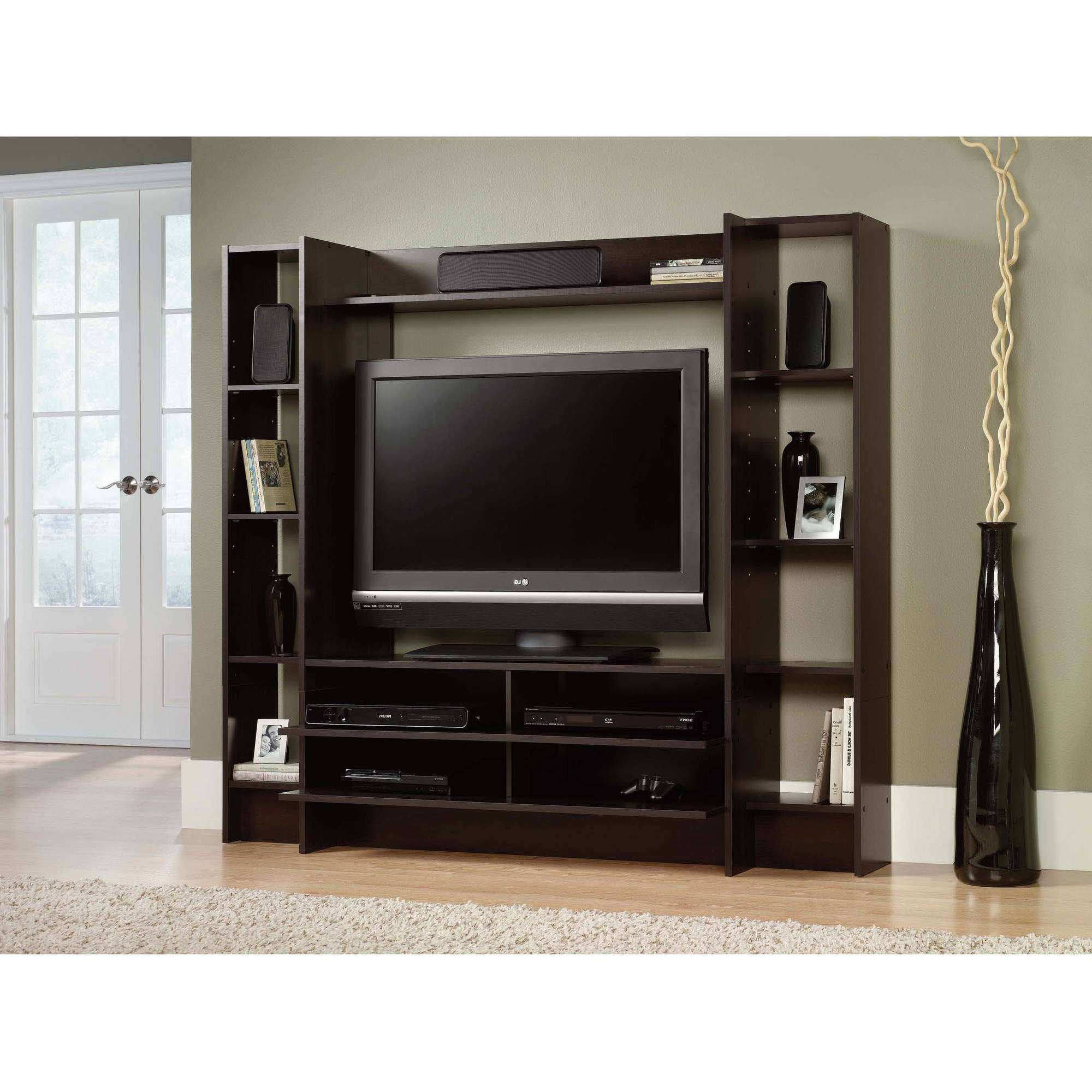 Sauder Beginnings Entertainment Wall System For Tvs Up To 42 Inside Cherry Wood Tv Stands (View 14 of 15)