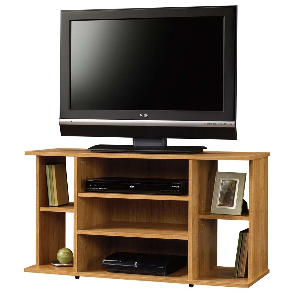 Sauder Beginnings Highland Oak Tv Stand 412995 Throughout Classy Tv Stands (View 13 of 20)