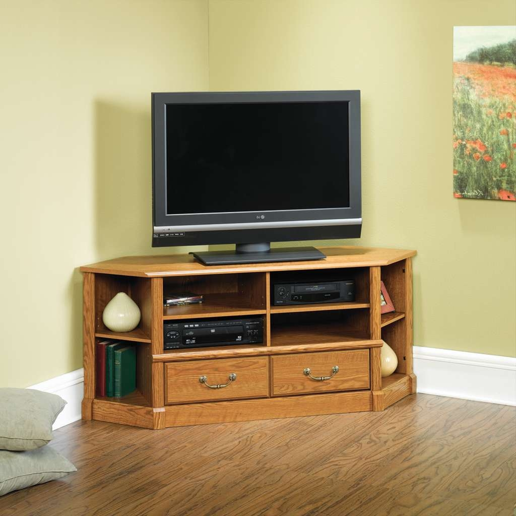 Sauder Orchard Hills Corner Tv Stand 403818 With Regard To Tv Stands For Corners (View 13 of 15)