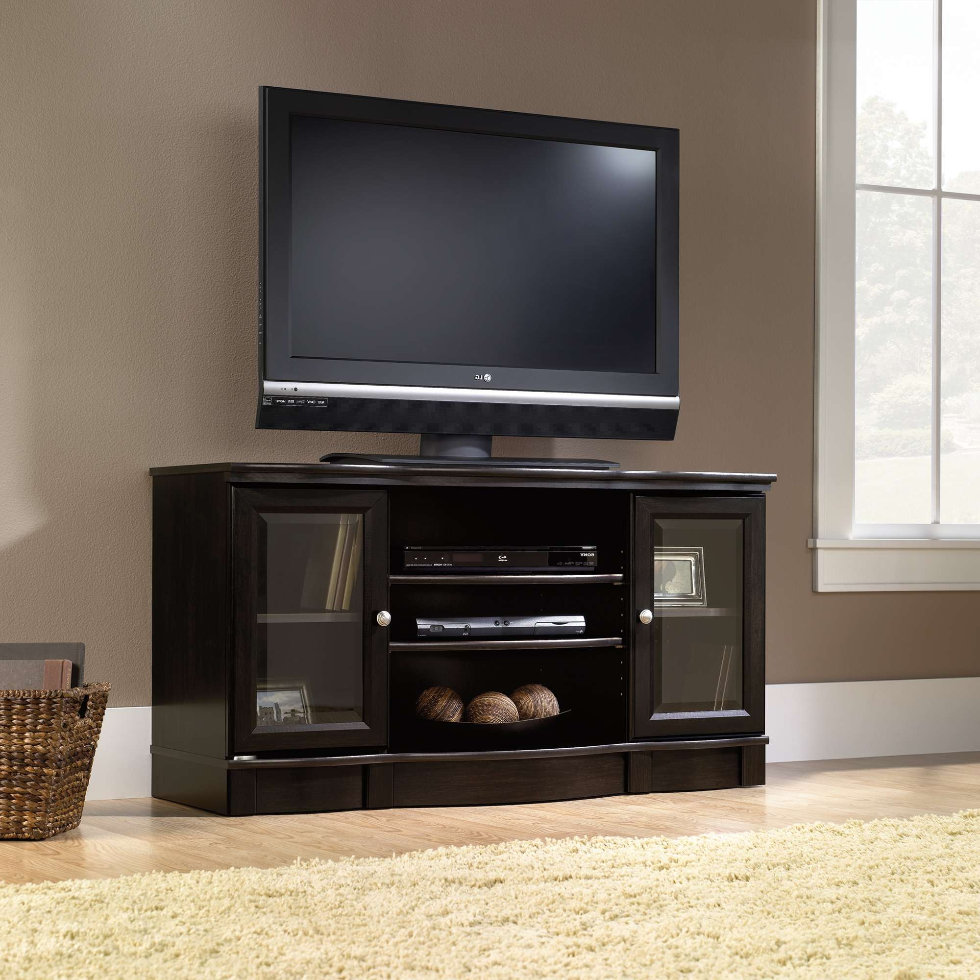 Sauder Select | Tv Stand | 412871 | Sauder Regarding Black Tv Stands (View 12 of 20)