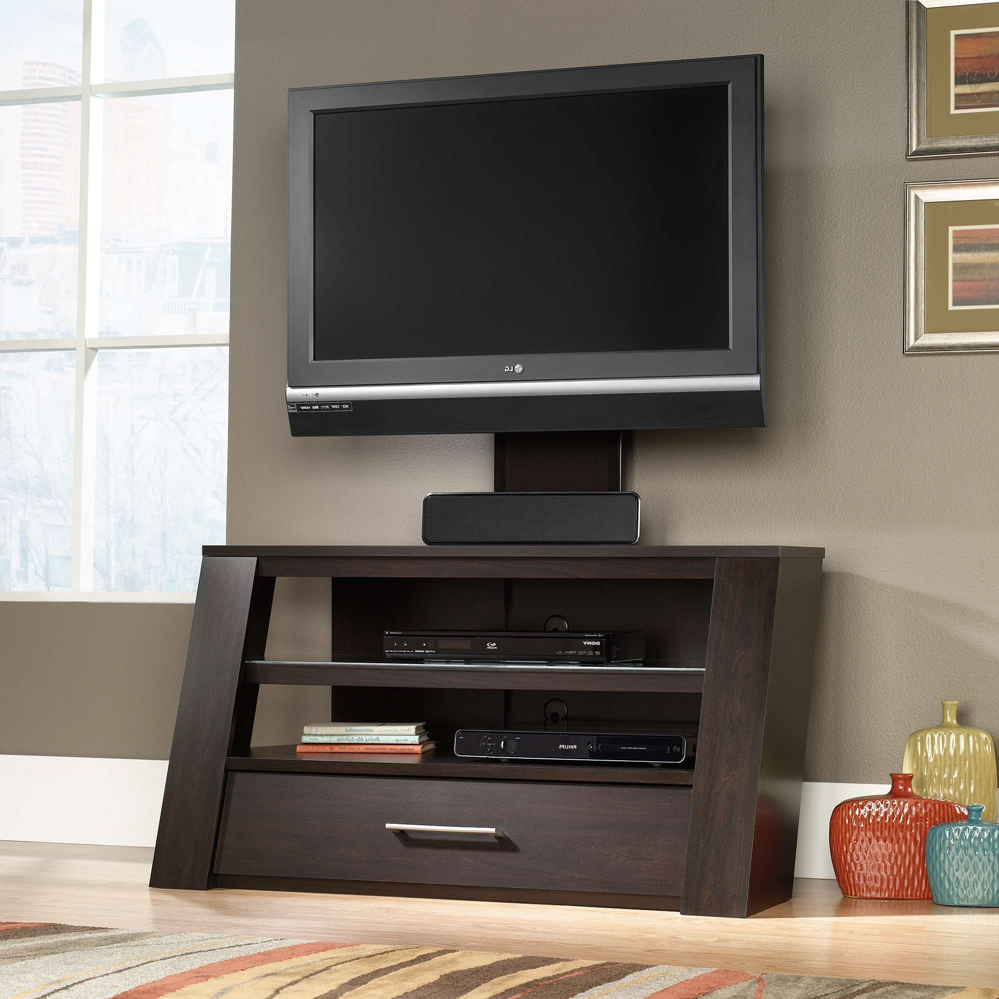 Sauder Select | Tv Stand With Optional Mount | 414143 | Sauder Pertaining To Cabinet Tv Stands (View 10 of 15)