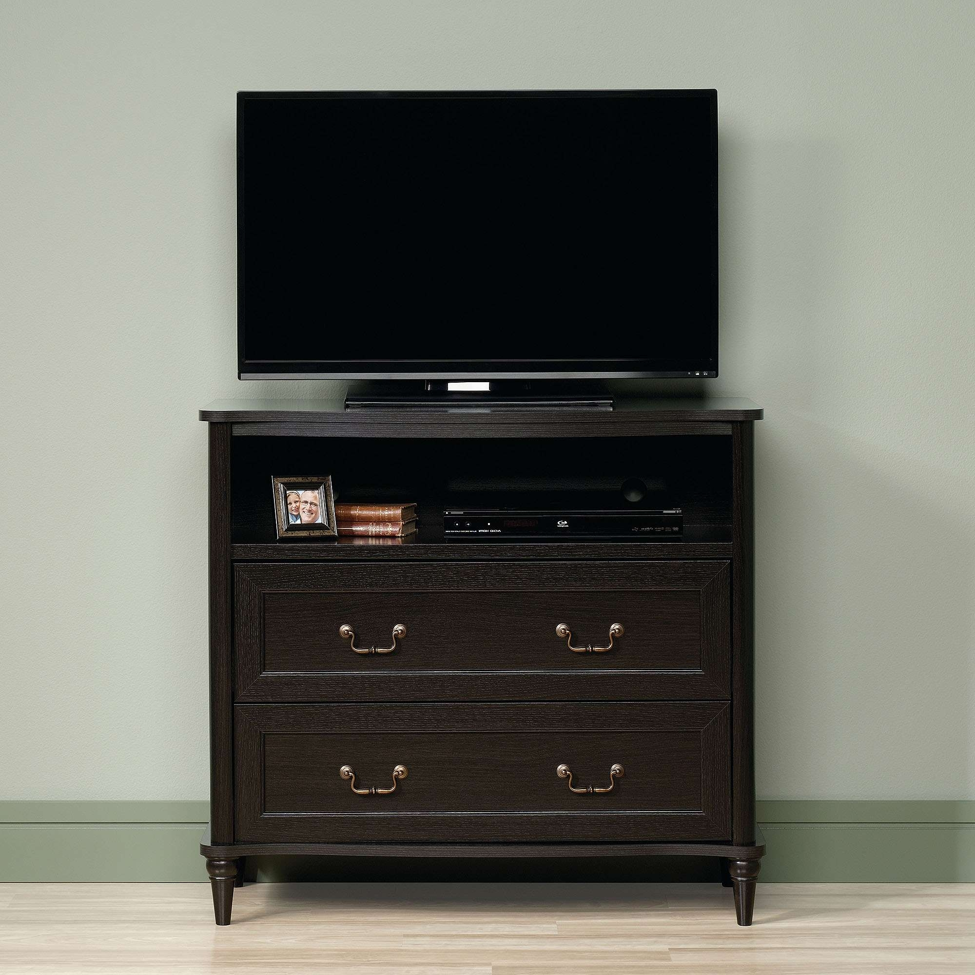 Sauder Wakefield Wind Oak Highboy Tv Stand For Tvs Up To 42 With Regard To Highboy Tv Stands (View 8 of 15)