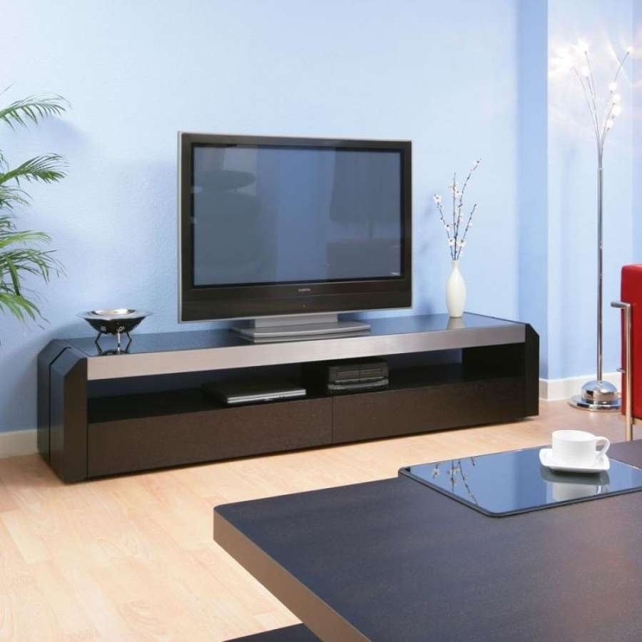 Scenic Collection Reclaimed Wood Industrial Long Tv Stand Media Pertaining To Long Black Tv Stands (View 4 of 15)