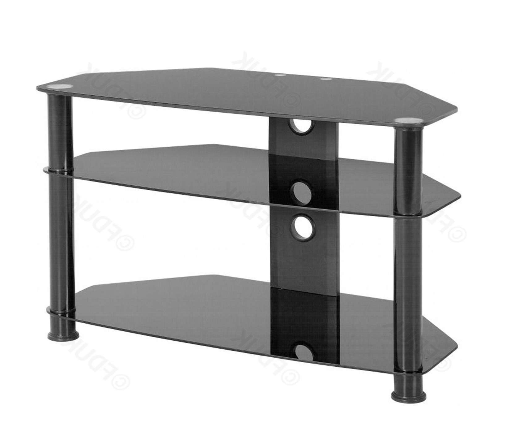 Seconique | Berlin Black Glass Tv Stand | Furnituredirectuk Pertaining To Black Glass Tv Stands (View 12 of 15)