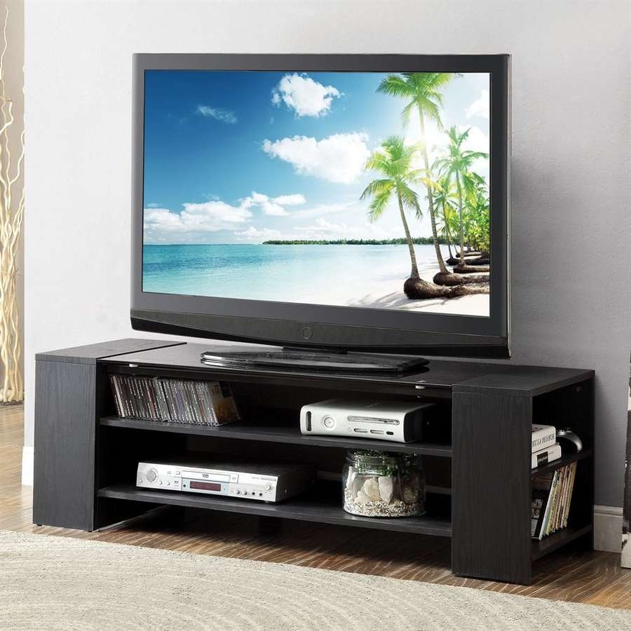 Shop Acme Furniture Winford Black Rectangular Tv Cabinet Tv Stand Intended For Rectangular Tv Stands (View 11 of 15)