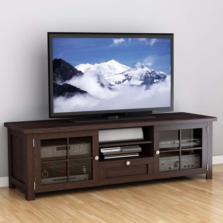 Shop Corliving Arbutus Dark Espresso Tv Cabinet At Lowes With Regard To Dark Tv Stands (View 6 of 15)
