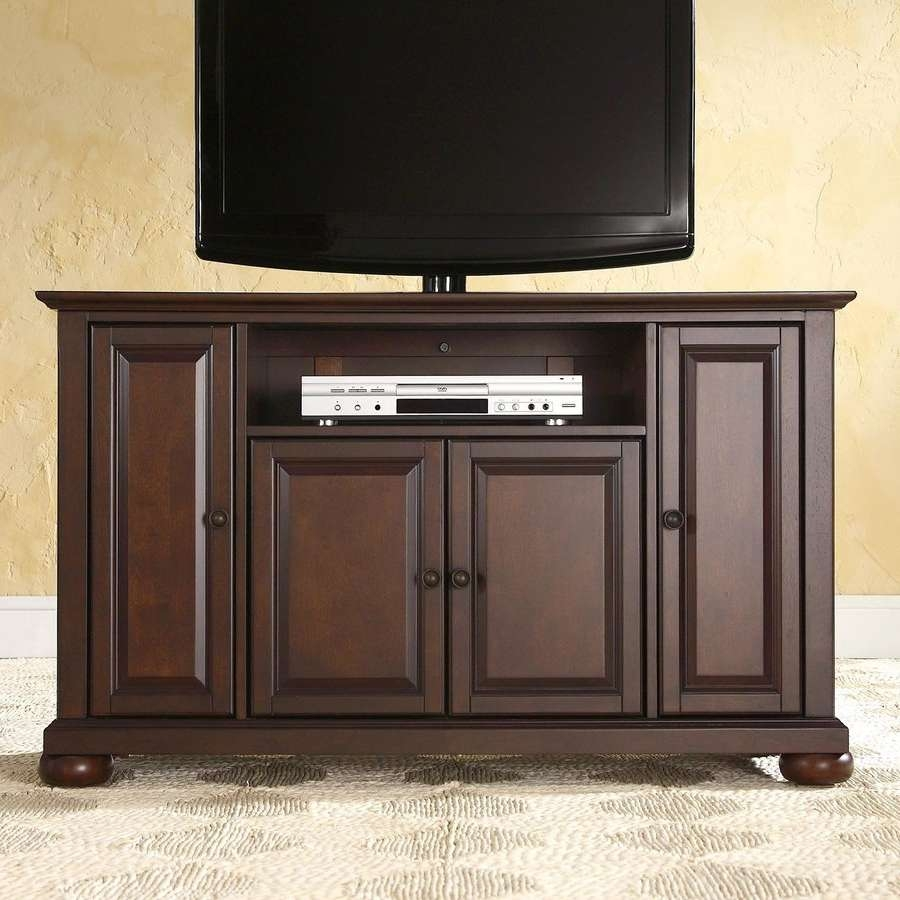 Shop Crosley Furniture Alexandria Vintage Mahogany Tv Cabinet At With Mahogany Tv Stands Furniture (View 2 of 15)