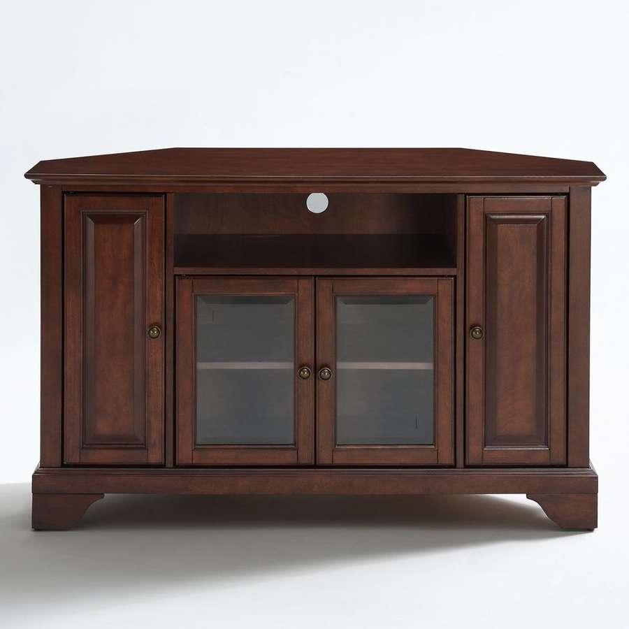 Shop Crosley Furniture Lafayette Vintage Mahogany Corner Tv Stand Within Mahogany Corner Tv Cabinets (View 8 of 20)