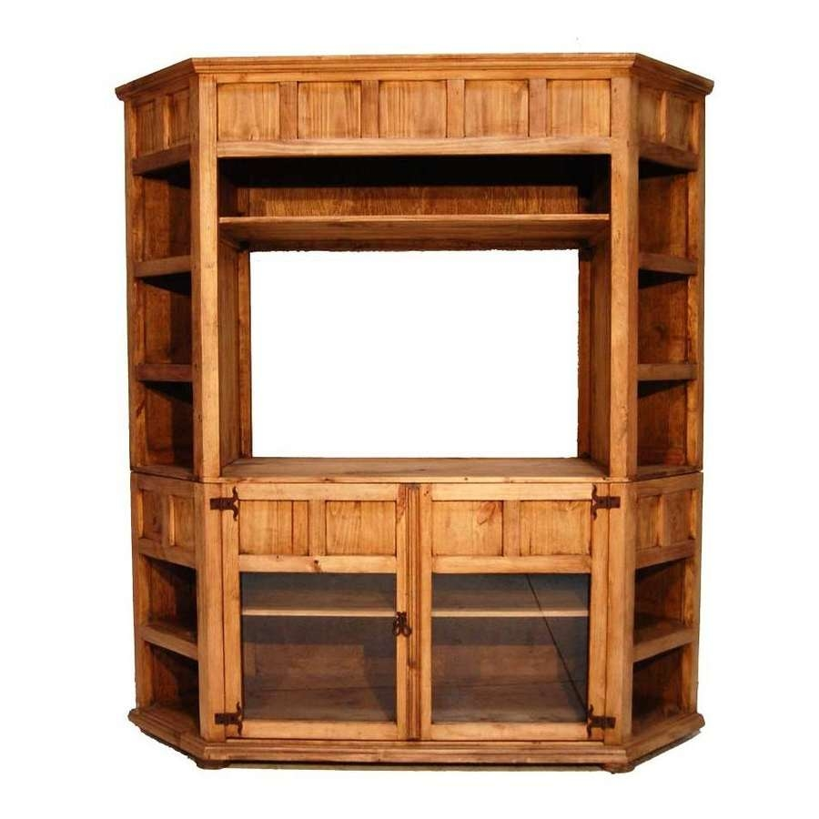 Shop Million Dollar Rustic Rustic Corner Tv Stand At Lowes Intended For Rustic Corner Tv Stands (View 3 of 15)