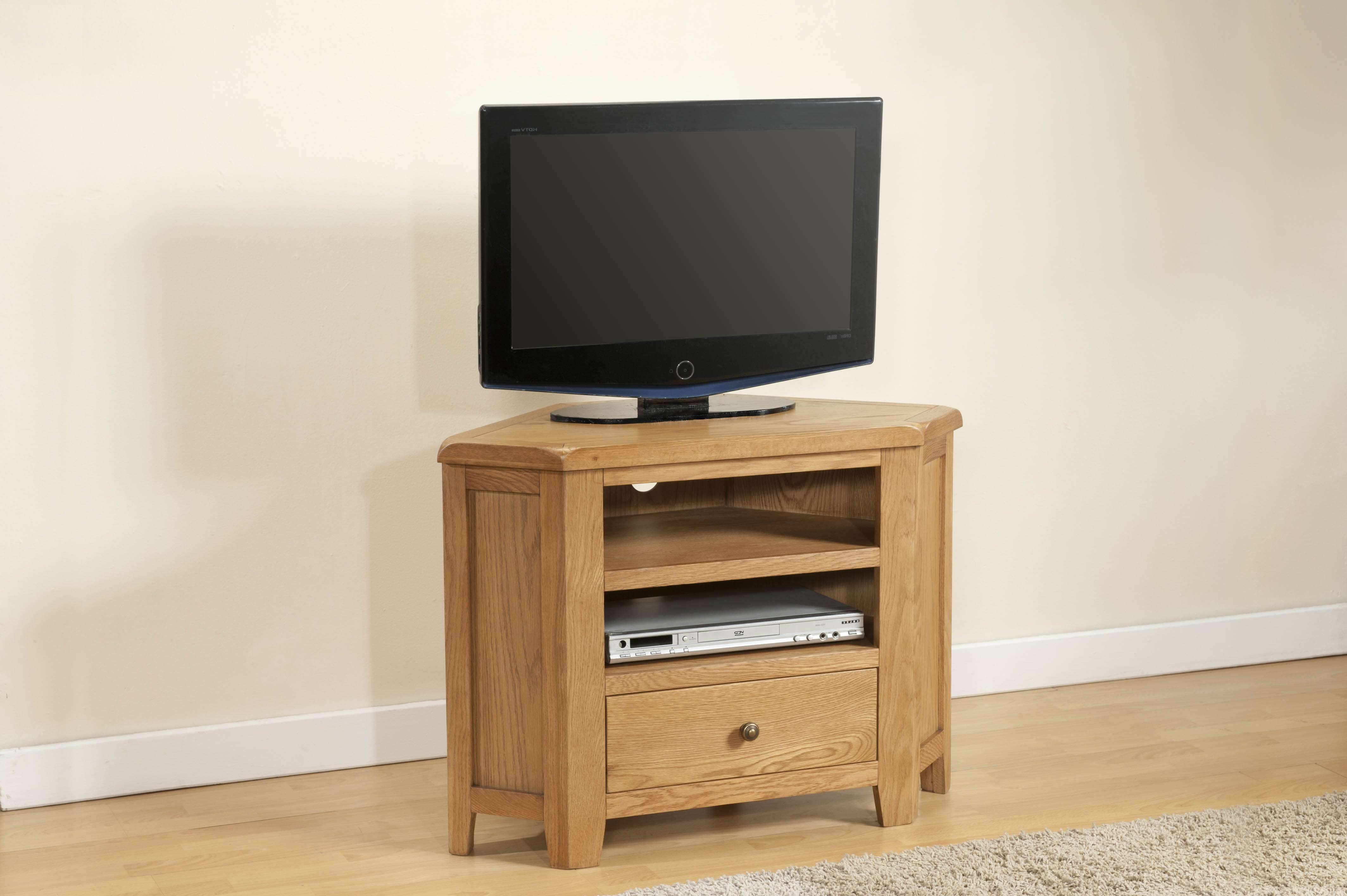 Shrewsbury Oak Corner Tv Unit | Oak Furniture Solutions For Oak Corner Tv Cabinets (View 6 of 20)