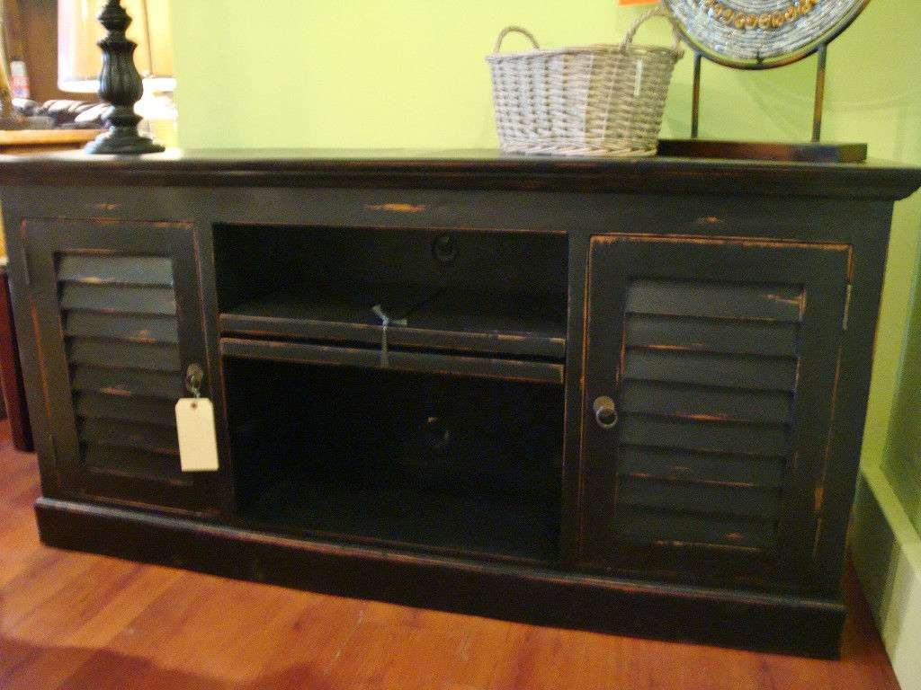 Shutter Plasma Tv Stand Cabinet Mahogany Wood Cottage Painted For Painted Tv Stands (View 12 of 15)