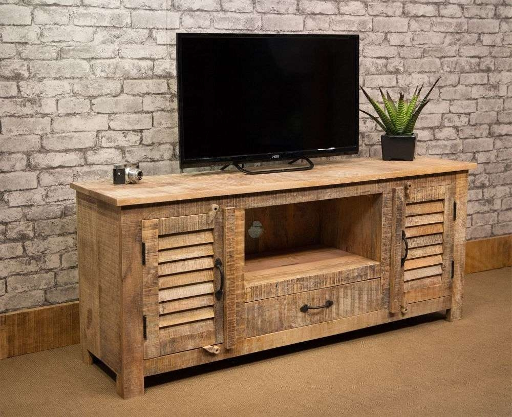 Si 518 Long Tv Cabinet – Natural Mango Wood Finish Throughout Mango Wood Tv Cabinets (View 13 of 20)