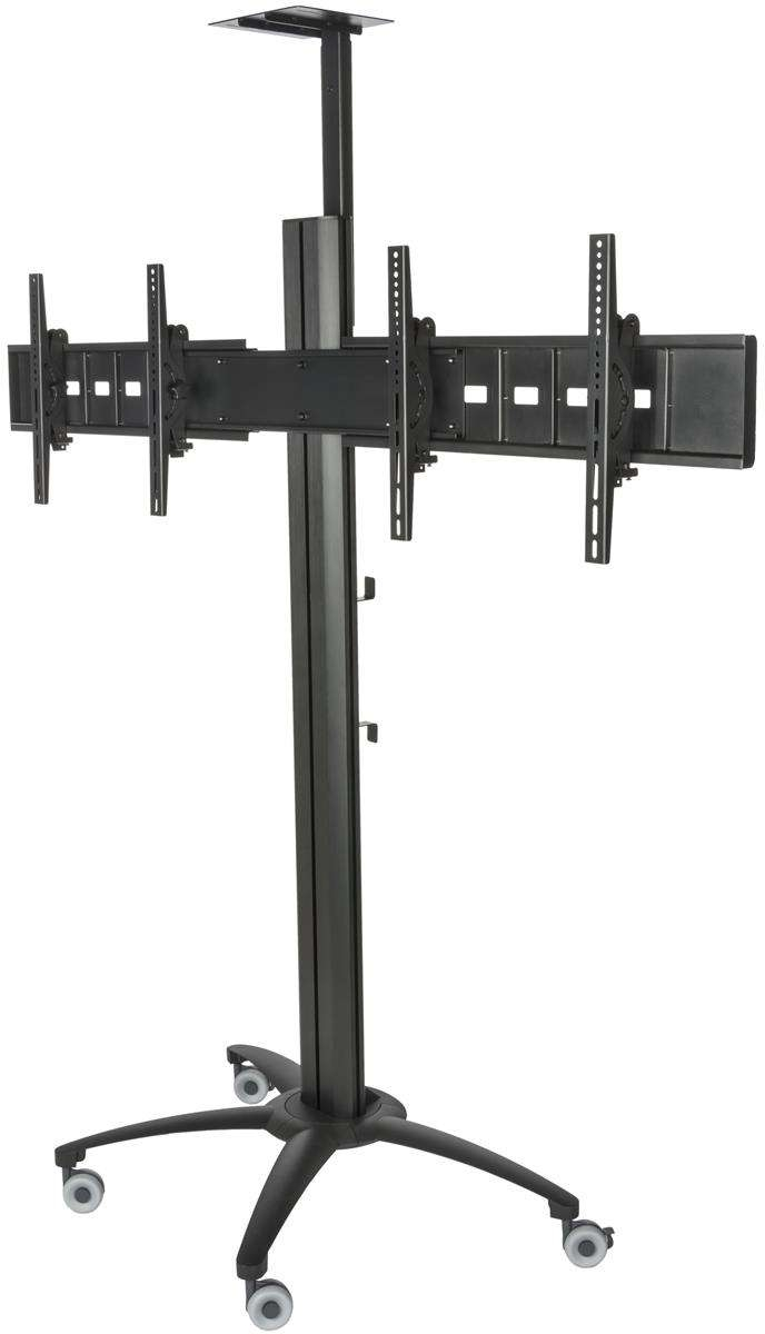Side By Side Tv Stand With Power Management | 132Lb Load Capacity Pertaining To Dual Tv Stands (View 10 of 15)