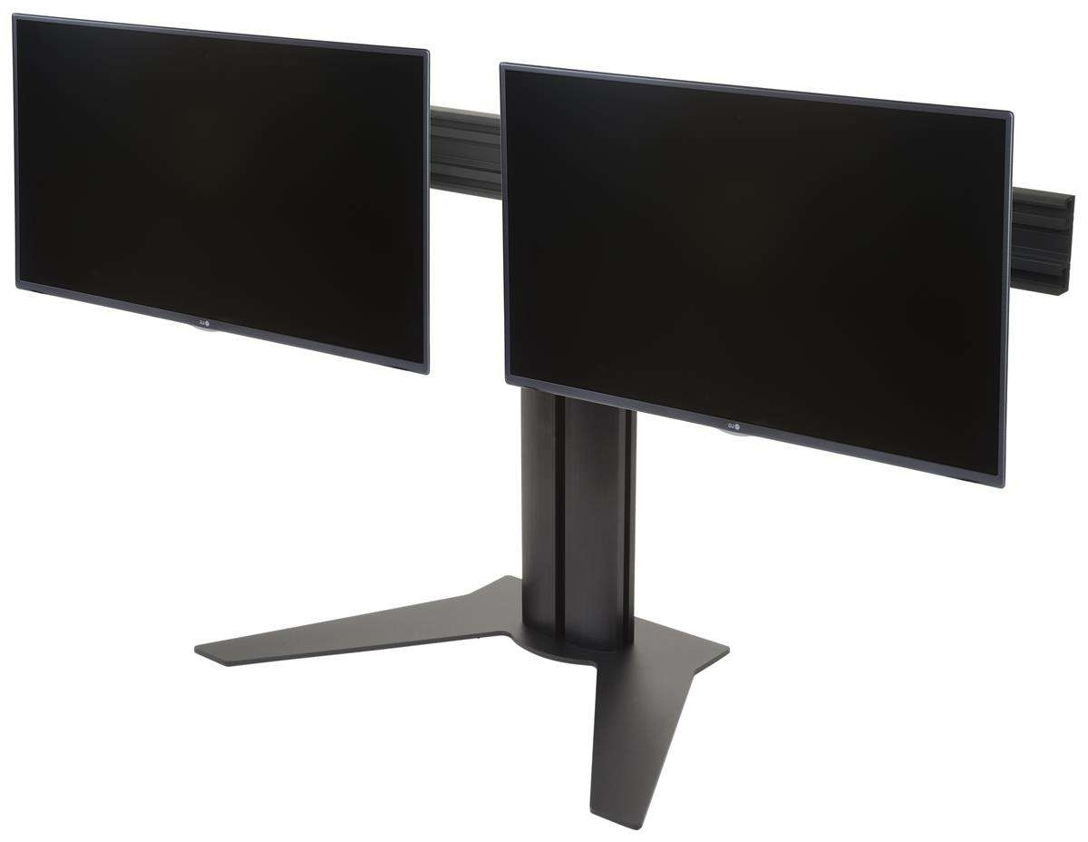 "Sideside 2 Screen Desktop Stand | (2) 10"" 32"" Monitors In Dual Tv Stands (View 12 of 15)"