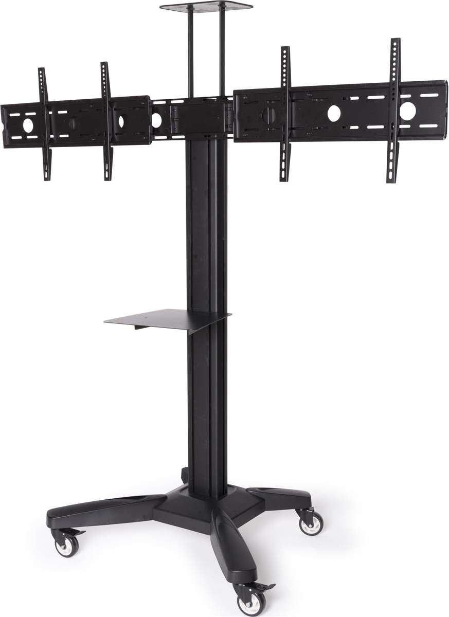 Sideside Dual Tv Stand | Adjustable Mount With Camera & Av Shelves With Regard To Dual Tv Stands (View 5 of 15)