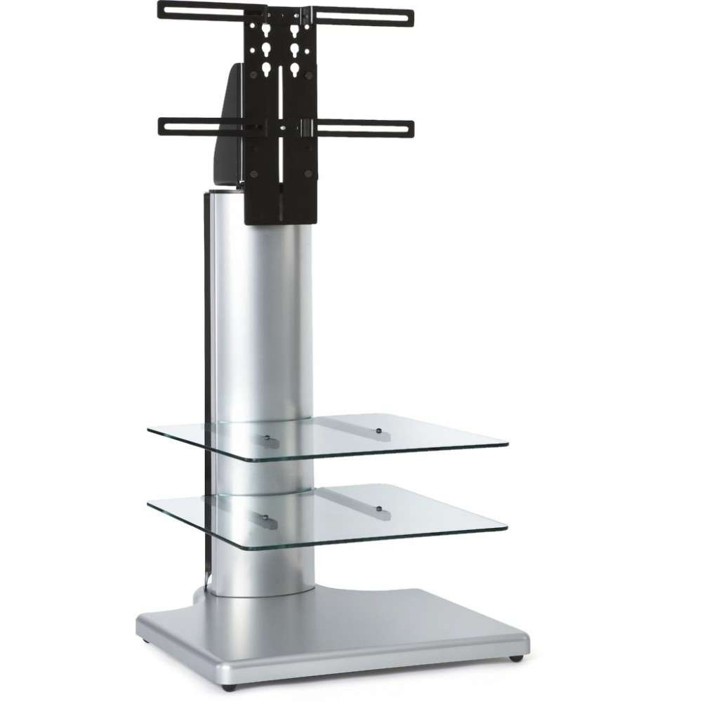 Silver Small Square Tv Stand Bracket Mount Display Unit Throughout Slim Line Tv Stands (View 15 of 15)
