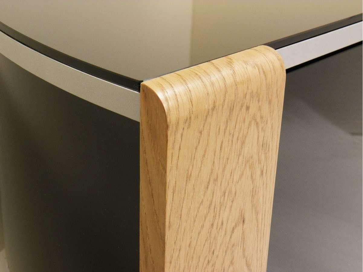 Sirius 1200 Black And Oak Corner Tv Cabinet Inside Black Corner Tv Cabinets With Glass Doors (View 19 of 20)