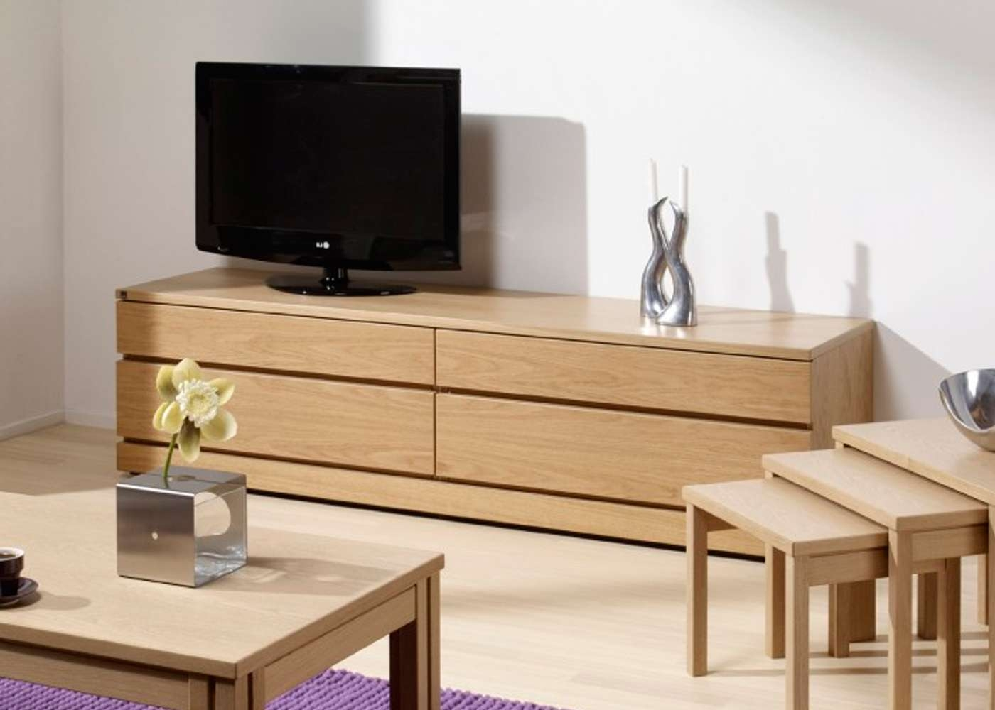 Skovby Sm87 Tv Cabinet In Light Oak Finish 1 – Midfurn Furniture With Regard To Light Oak Tv Cabinets (View 8 of 20)