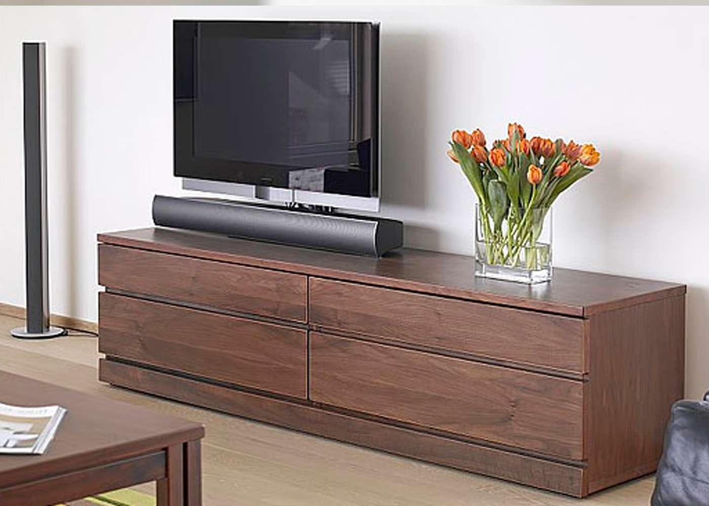 Skovby Sm87 Tv Cabinet In Walnut Finish 1 – Midfurn Furniture Within Walnut Tv Cabinets With Doors (View 11 of 20)