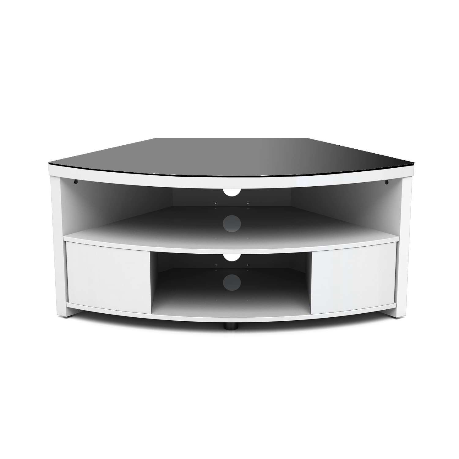Small Corner Low Profile Tv Console With Storage And Drawer Throughout White Small Corner Tv Stands (View 9 of 15)