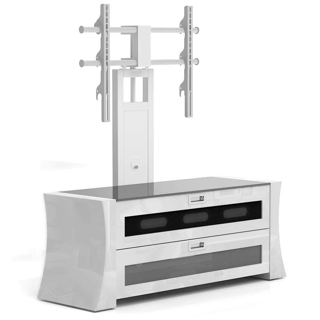 Small Flat Screen Tv Stand With Mount And Cabinet – Decofurnish In Small White Tv Cabinets (View 8 of 20)
