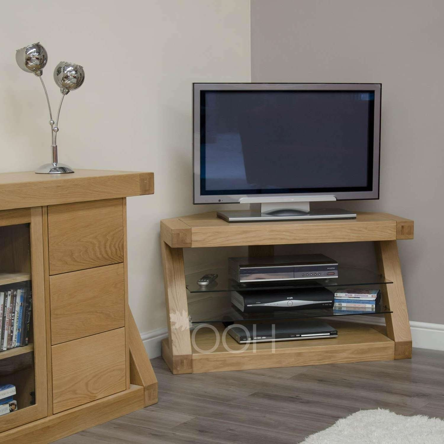 Small Oak Tv Corner Cabinets • Corner Cabinets With Small Oak Tv Cabinets (View 15 of 20)