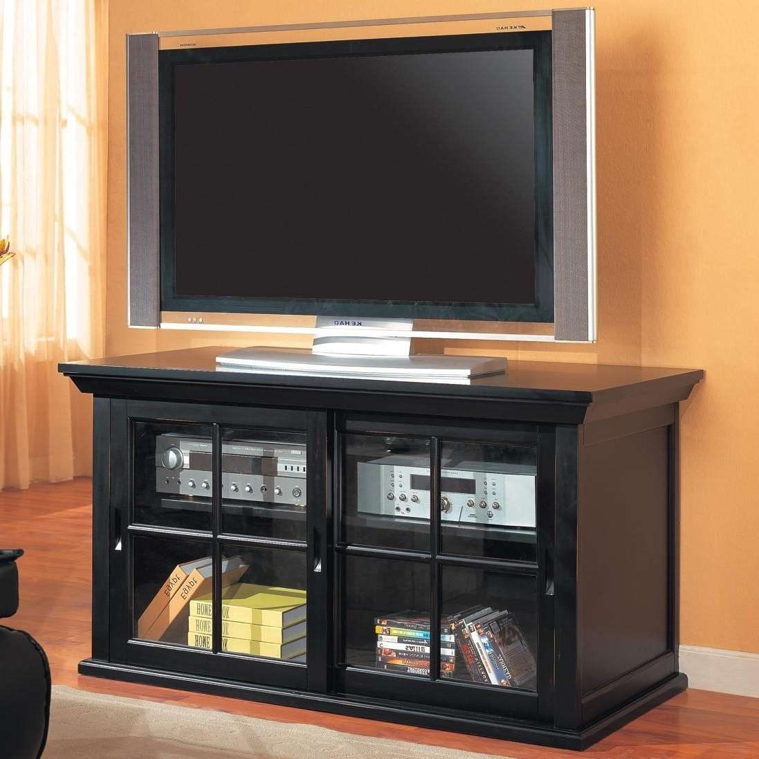 Small Tv Cabinet With Glass Doors • Cabinet Doors | Best Home Throughout Glass Tv Cabinets With Doors (View 7 of 20)