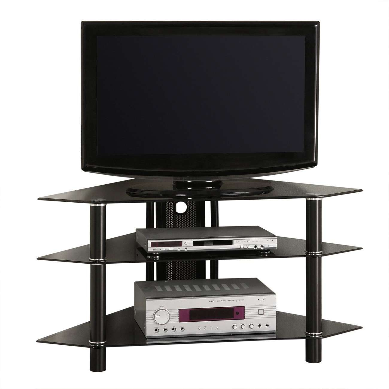 Small Tv Stands For Spaces Ideas Corner Stand 2017 ~ Luxochic Regarding Small Tv Stands (View 10 of 15)