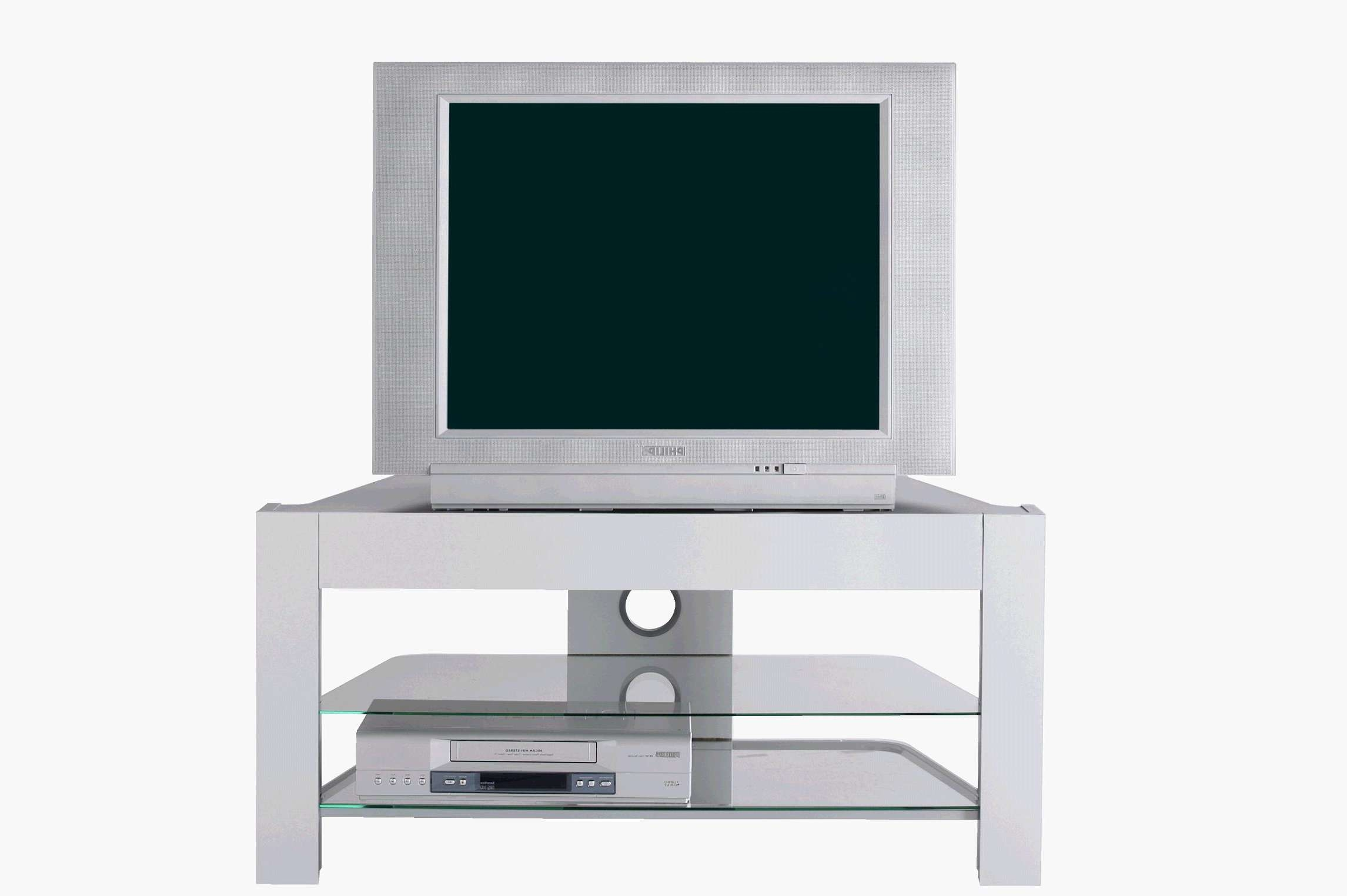 Small White Tv Stand With Mount And 2 Glass Shelf Underneath Ikea Inside Small White Tv Stands (View 9 of 15)