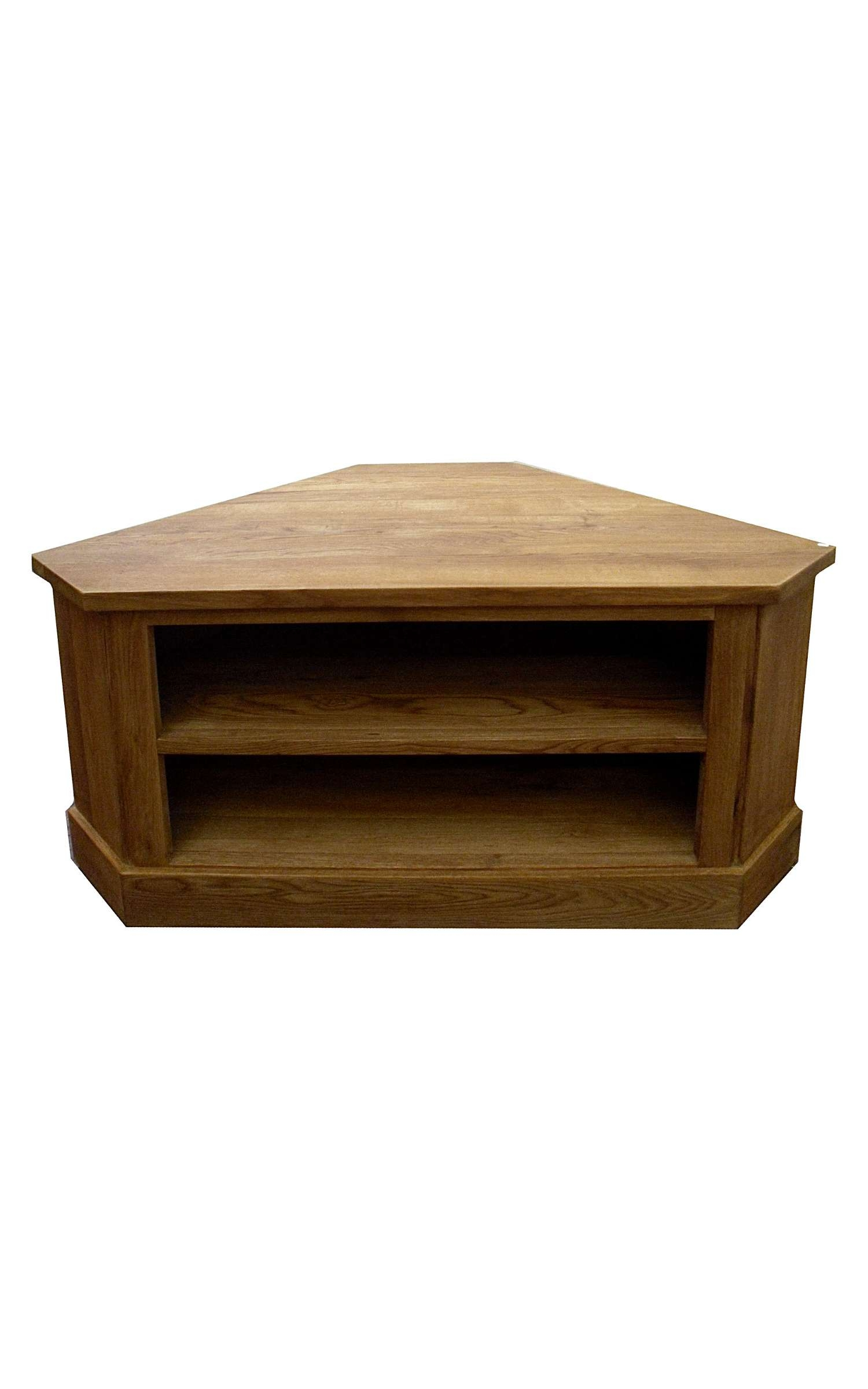 Small Wooden Corner Tv Stand Console Cabinet With Fireplace And Within Wooden Corner Tv Stands (View 6 of 15)