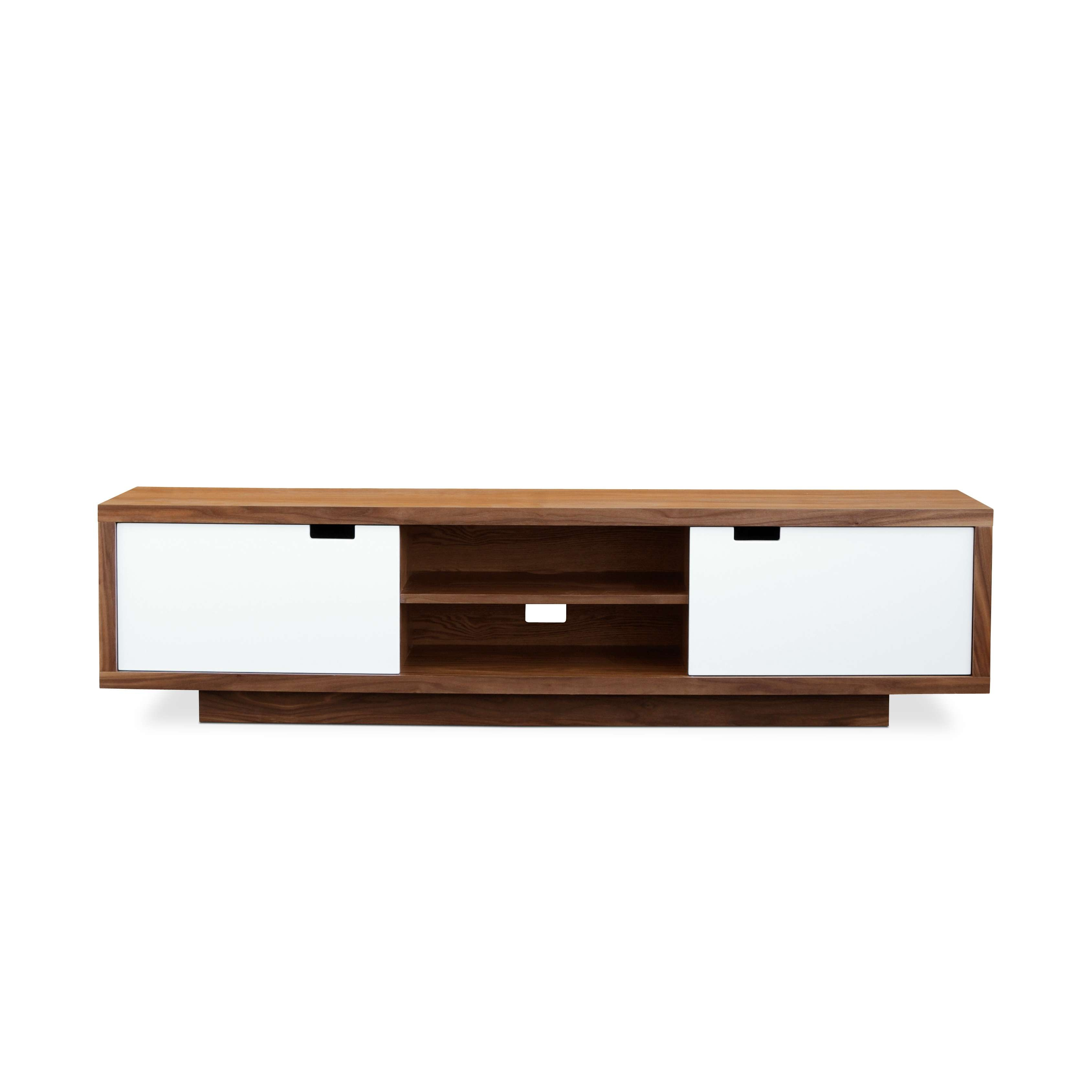 Smart Tv Stand In Baxton Studio Matlock Walnut Along With For All Modern Tv Stands (View 10 of 20)