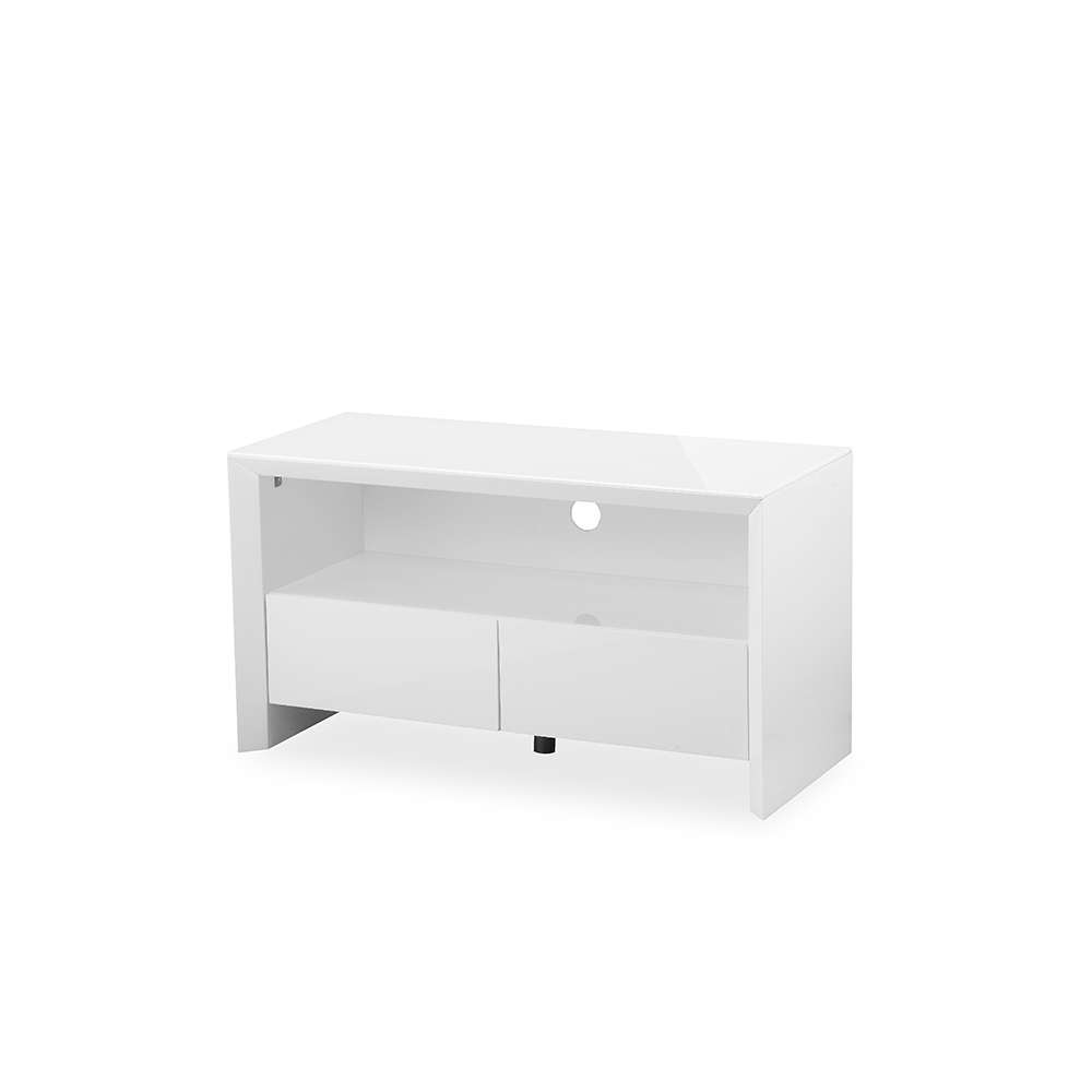 Soho White High Gloss Tv Cabinet – Gloss Furniture Within Small White Tv Cabinets (View 2 of 20)