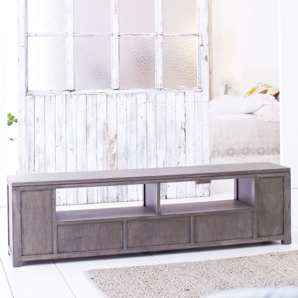 Solid Grey Tv Stand : How To Make Grey Tv Stand – Indoor & Outdoor Intended For Grey Wood Tv Stands (View 7 of 15)