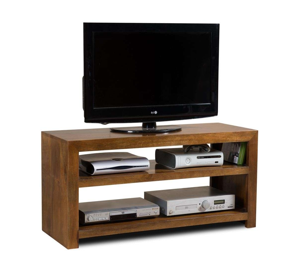 Solid Mango Wood Tv Cabinet With Drawers | Casa Bella Indian Furniture Pertaining To Mango Wood Tv Cabinets (View 14 of 20)