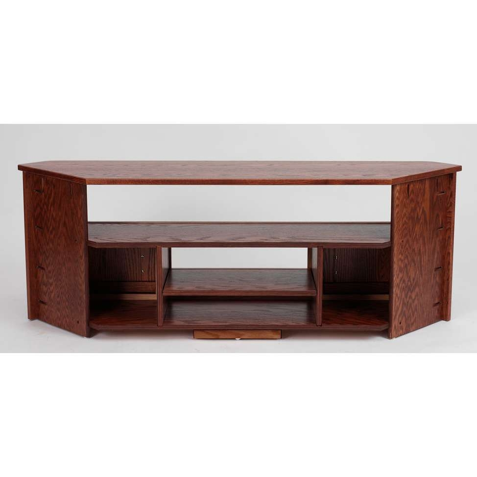 """Solid Oak Mission Style Corner Tv Stand – 61"""" – The Oak Furniture Shop For Oak Furniture Tv Stands (View 11 of 20)"""