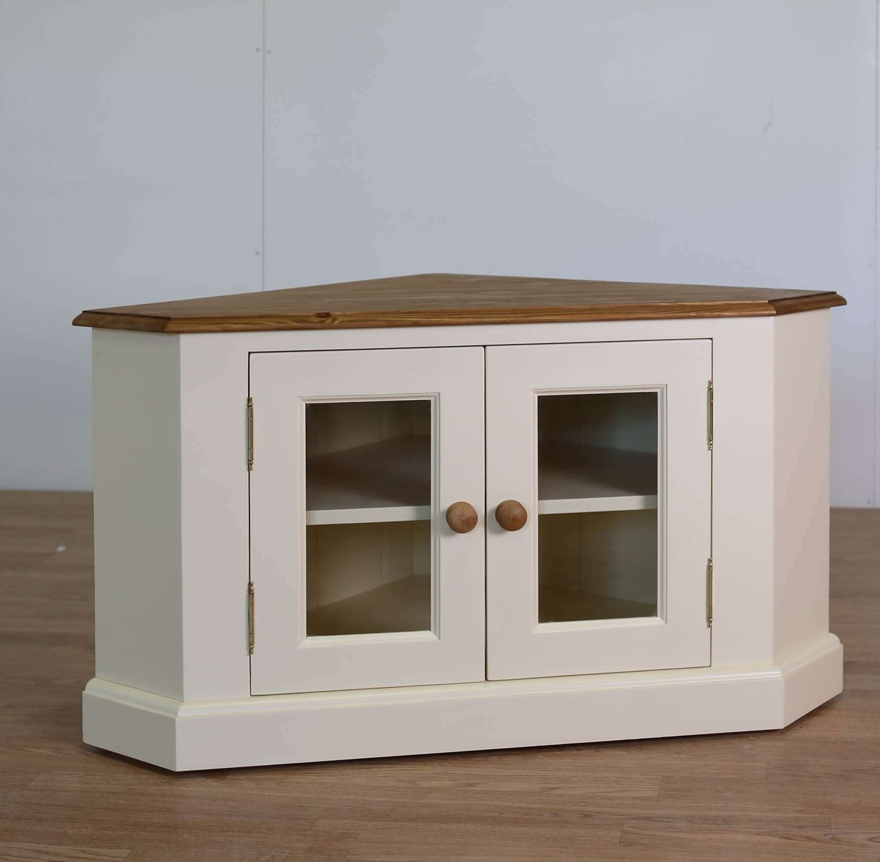 Solid Pine Corner Tv Cabinet • Corner Cabinets Within Painted Corner Tv Cabinets (View 17 of 20)