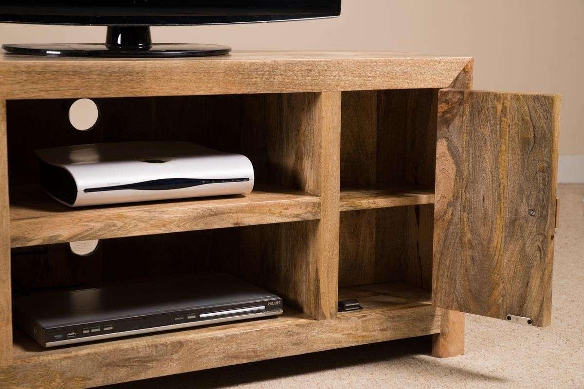Solid Wood Corner Tv Cabinet – Large | Dakota Mango Furniture Within Solid Wood Corner Tv Cabinets (View 7 of 20)