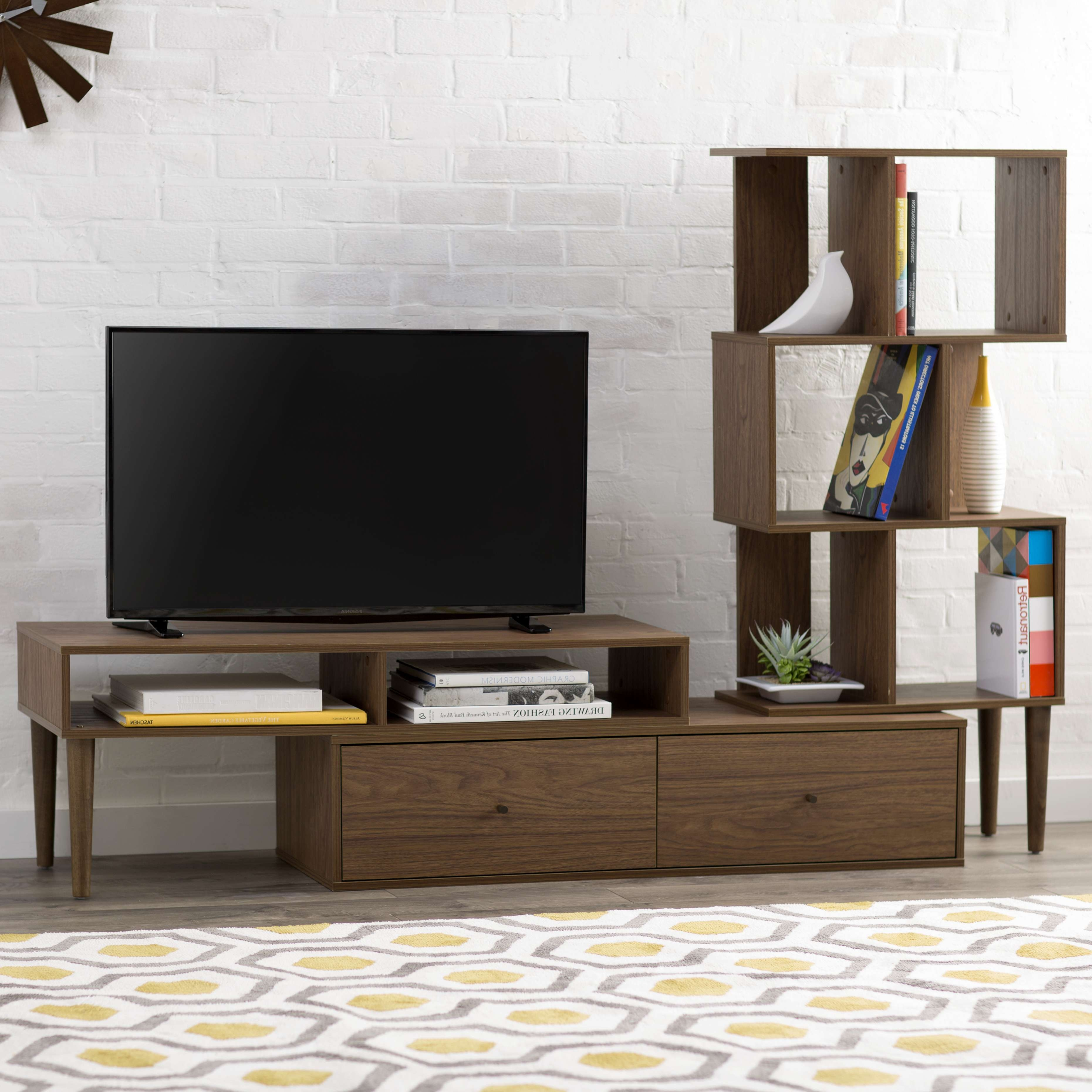 Solid Wood Media Console Decoration Tv Stands Amusing Inch In Extra Long Tv Stands (View 8 of 20)
